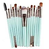 Lumanuby 15 Stück Professionelle Make-up Concealer Pinsel Set zubehör zum Gesicht Make-up und Augen Make-up Kosmetik Bürsten für Make-up-Profis oder Anfänger