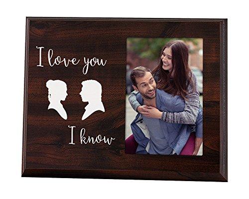 Elegante Schilder Funny Frisch vermählte Oder Valentinstag Geschenk-Cute Bilderrahmen für Paare, Dass Says I Love You, I Know (Frisch Vermählte Für Geschenke)