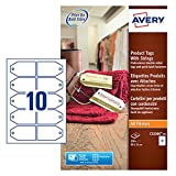 Avery C32300-10 Product Gift Tags with String, 10 Card Tags Per A4 Shee