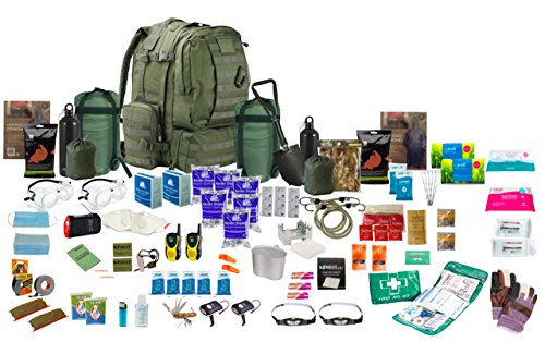2 x Person 72hr Bug Out Bag Green, Überlebensrucksack Rucksack