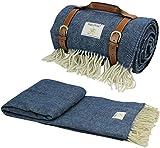 HappyPicnic Große Wolldecke für Picknick-Außenteppich Premium-Rasenmatte mit wasserdichter Unterlage, Tragbare Stadionmatte Sandbeständig für Campingreisen, Überwurfköper (200x150 cm)