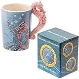Puckator SMUG07 Mug avec Anse Design Hippocampe Céramique Bleu/Rose