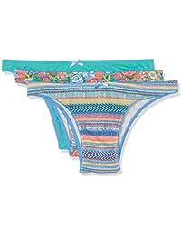 Women' Secret Pm Mexico 3BB, Braguita Brasileña Para Mujer, Multicolor, Pack de 3