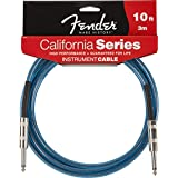 Fender California 10-feet Instrument Cable, Lake Placid Blue