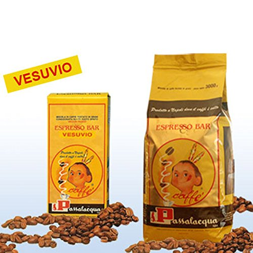 Passalacqua granos de café VESUVIO Kg. 3 - Oferta 3 Piezas