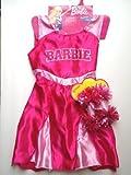 Exclusive Barbie Pink Cheerleader Dress with Bonus Pompoms Size 4-6X by Mattel