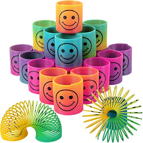 LISOPO 24 Stück Regenbogenspirale Springs Magic Rainbow Puzzle Lernspielzeug