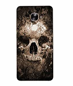 Make My Print Skull Printed Brown Soft Back Cover For Letv Le Eco Le 2