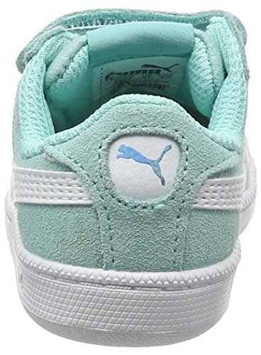 Puma Unisex-Kinder Smash Fun Sd V Inf Low-Top Blau (aruba blue-puma white 08)