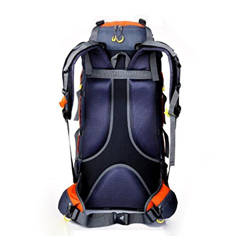 80L Multifunktions Outdoor Sport Klettern Nylon Travel Rucksack,Blue Blue