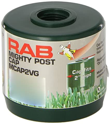 RAB Lighting MCAP2VG Mighty Post Cap for 2 Pipe, 2-3/8 OD x 2-3/4 Height, Verde Green by RAB