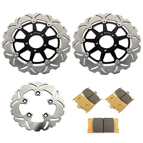 TARAZON Disques de Frein Avant Arri/ère et Plaquettes pour GSXR 600 1997-2003 GSXR 750 2000 2001 2002 2003
