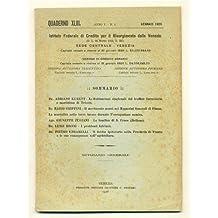 venezia QUADERNO MENSILE 1926 n. 1 Traffico Trieste - Merci a Fiume - Bonifica S. Croce - Problemi Istria - Debito ipotecario Trento