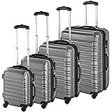 TecTake Set 4 piezas maletas ABS juego de maletas de viaje trolley maleta dura - disponible en diferentes colores -