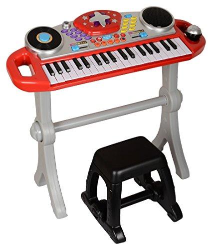 WinFun Keyboard Rockstar Piano Klavier Spielzeug mit Mikrofon Soundeffekte