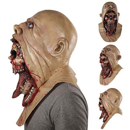 aske Halloween Latex Maske Mit Scary Horror Charlie Stil Halloween Kostüm Teufel Festival Supplies ()