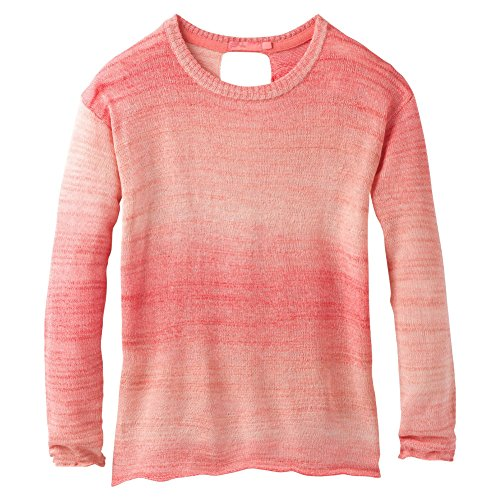 prAna - Damen Nachtigall Pullover, Damen, Sunset Pink, X-Large -