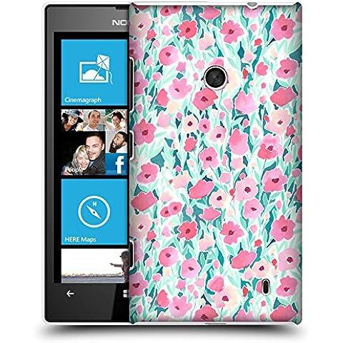 Ufficiale Jacqueline Maldonado Campo di fiori rosa e menta Pattern Cover Retro Rigida per Nokia (520 Menta)