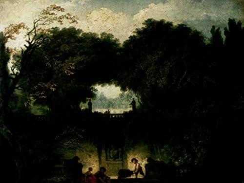 Lais Puzzle Jean-Honoré Jean-Honoré Jean-Honoré Fragonard - Le Jardin de la Villa d'Este (Tivoli) 500 Pieces | Ont Longtemps Joui D'une Grande Renommée  5f5f99
