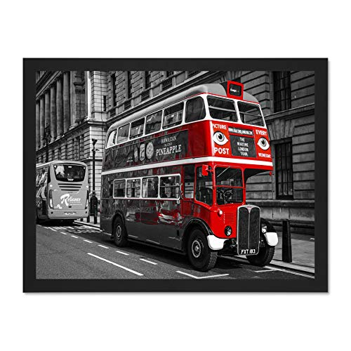 Doppelganger33 LTD Vintage Routemaster London Bus Large Framed Art Print Poster Wall Decor 18x24 inch Supplied Ready to Hang