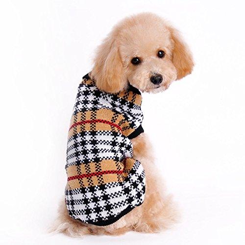 Cane Vestiti Invernale Costume Gatto Vestiti Invernali Maglione Caldo Maglieria per Cani Cucciolo Abbigliamento Cappotto (L)