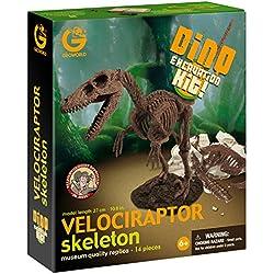 Geoworld CL119K - Maqueta para excavar un esqueleto de Velociraptor (en inglés) - Kit de Excavación Velociraptor, Juguete