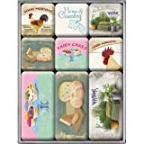 Nostalgic-Art 83017 Home & Country - Home & Country, Magnet-Set (9teilig)