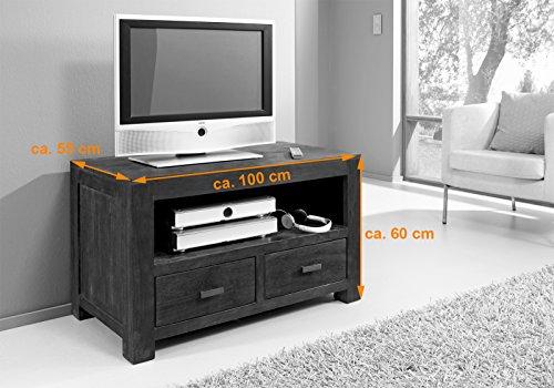 SAM® Longboard Timber 6646 aus Akazienholz, Sideboard tabakfarben, massiv, 2 Schubladen, 2 große Ablageflächen, viel Stauraum - 2