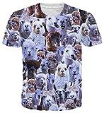 Goodstoworld T Shirt 3D Alpaka Gesicht Druck Herren Damen Printed Sommer Lustig Beiläufige Kurzarm Cooles T-Shirts Tee Top M