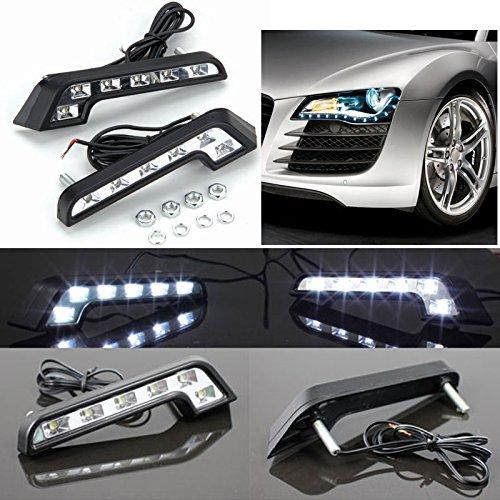 Preisvergleich Produktbild SUNTEC 2X 6 LED Universal Tagfahrleuchten Auto weiße Lampen Nebel 12V DRL Tagfahrlicht