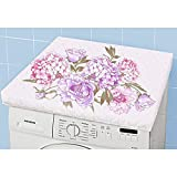 Waschmaschinenüberzug Hortensie Abdeckung Waschmaschine