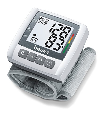 Beurer BC-30 - Tensiómetro de muñeca, indicador OMS, memoria 3 x 40 mediciones