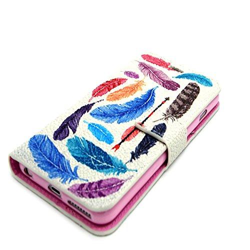 MOONCASE iPhone 6S Coque Portefeuille [Porte-cartes] Modèle Case Housse en Cuir Etui à rabat avec Béquille pour iPhone 6 / 6S (4.7 inch) -YX05 YX09