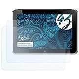 Bruni Schutzfolie für HP ElitePad 1000 G2 Folie, glasklare Bildschirmschutzfolie (2X)