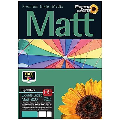 PermaJet Double-Sided 24115 Matt 250GSM A4 x100 Printing
