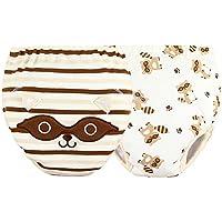 [Mapache] bebé pantalones del entrenamiento del tocador del pañal de la ropa interior del pañal del paño 15.4-26.4Lbs