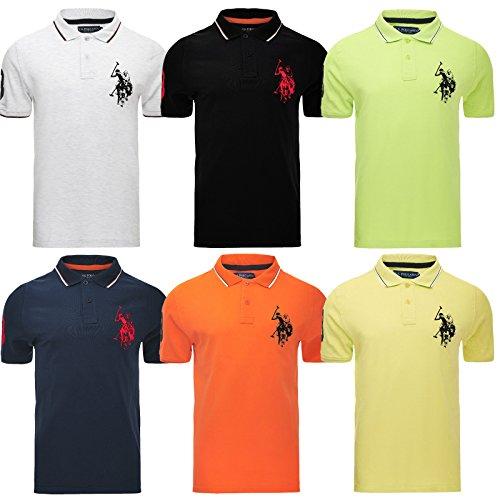 U.S.POLO ASSN.. Mens Polo Tshirt Original Top Designer US Polo Association Assn T-Shirt Short Sleeve Cotton