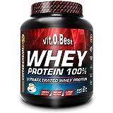 Vit-O-Best Whey Protein 100%, Proteínas, Sabor a Chocolate - 907 gr