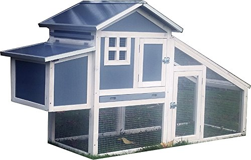 FeelGoodUK NCH10 Plastique et Bois Chicken Coop poulailler VOLAILLE ARK Home Run Nest Coup
