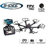 s-idee® 01635 Quadrocopter X601H Wifi HD Kamera Flugroute über Smartphone FPV Höhenstabilisierung, One Key Return, Coming Home / Headless VR möglich, Drohne 360° Flip Funktion, 2.4 GHz mit Gyro, 4-Kanal, 6-AXIS System Drone mit Camera 720p