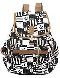 DAHSHA Women's Canvas Multipocket Shoulder Bag (37x15x36cm, Colour May Vary,Printed College Bag - 002)