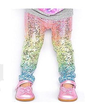 zooarts para 1–6años infantil bebé niñas arco iris Leggings disfraz de fiesta Navidad pantalones pantalones...