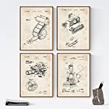 Set de Laminas de Patentes de Fotografia 250 gr A4 Size - Negro