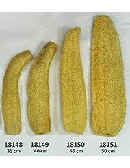 Luffagurke bis 50 cm Luffaschwamm Luffa Naturschwamm Badeschwamm Massageschwamm (18150 - Natur belassen 45 cm)