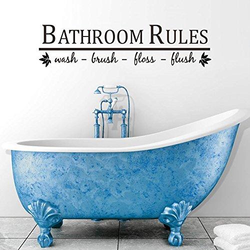 decalmile Wandtattoo Zitate und Sprüche Bathroom Rules Pinsel Wash ...