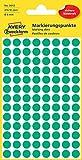 Avery Zweckform 3012 Markierungspunkte (416 Stück, Ø 8 mm) 4 Blatt grün