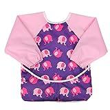 aviloo - Ärmel-Lätzchen für Babys - 100% wasserdicht und abwischbar - extra lang - mit Auffang-Tasche und Klettverschluss ...