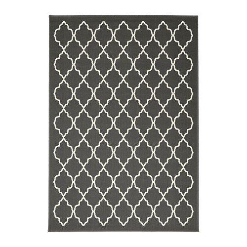 IKEA HOVSLUND Kurzflor Teppich in dunkelgrau; (160x230cm)