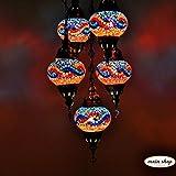 Mosaik Hängelampe Mosaiklampe Deckenlampe Türkische Orientalische Hängelampe 5 Großen Kugeln