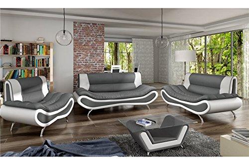Table Basse Design ORI - Gris et Blanc